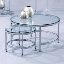 <strong>Bassett Mirror</strong> Patinoire Round Cocktail on Casters