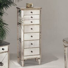 "Borghese 24"" x 55"" Mirrored Linen Tower"