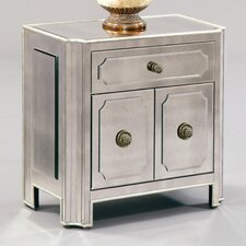 <strong>Bassett Mirror</strong> Regency Small Mirrored 1 Drawer Chest