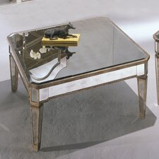 <strong>Bassett Mirror</strong> Borghese Mirrored Square Cocktail