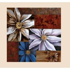 Squares a Daisy Original Painting on Canvas