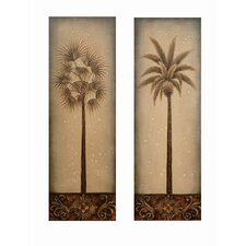 Standing Tall Palms Canvas (Set of 2)