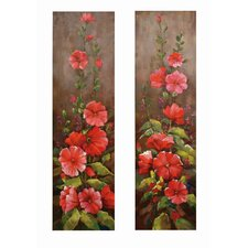 <strong>Bassett Mirror</strong> Climbing Floral Canvas (Set of 2)