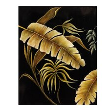 <strong>Bassett Mirror</strong> Stunning Ferns in Black Canvas