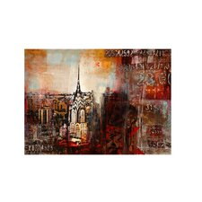 Downtown Nights Vintage Advertisement on Canvas
