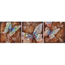 Mystical Butterflies Canvas (Set of 3)