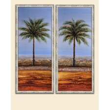 Seeing Double Palms Canvas (Set of 2)
