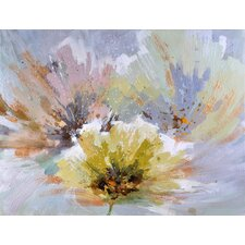 Trois Fleurs Original Painting on Canvas