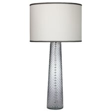 """Cut Glass Pillar 38"""" H Table Lamp with Drum Shade"""