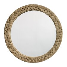 "Jute 20"" x 20"" Round Braided Mirror"