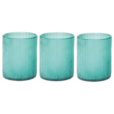 Seaglass Hurricanes (Set of 3)