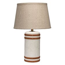 "Barrel 22"" H Table Lamp with Empire Shade"
