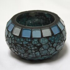 Blue Moon Glass Ball Votive