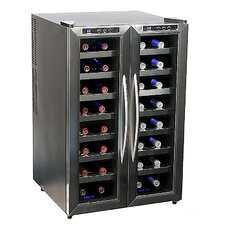 32 Bottle Dual Temperature Zone Wine Cooler