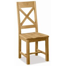 Pemberley Cross Back Oak Dining Chair (Set of 2)
