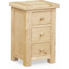 Chatsworth 3 Drawer Bedside Table