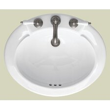 "<strong>St Thomas Creations</strong> Jasmine Countertop 4"" Center Bathroom Sink"
