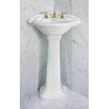 Barrymore Corner Pedestal Bathroom Sink