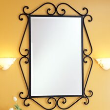 <strong>St Thomas Creations</strong> Granada Rectangular Scroll Beveled Mirror