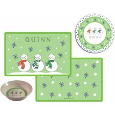 The Kids Tabletop Jolly Snowmen Place Setting (Set of 3)