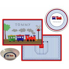 Kids Tabletop  All Aboard Plate and Placemat Set