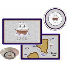 Kids Tabletop Ahoy Matey Plate and Placemat Set