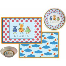 Kids Tabletop Monster Madness Plate and Placemat Set