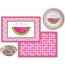 Kids Tabletop Ant Picnic Plate and Placemat Set