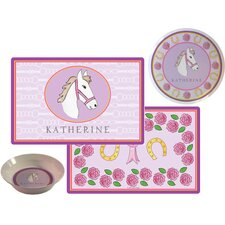 The Kids Tabletop Saddle Up Place Setting (Set of 3)