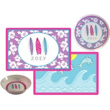 The Kids Tabletop Surfer Girl Place Setting (Set of 3)