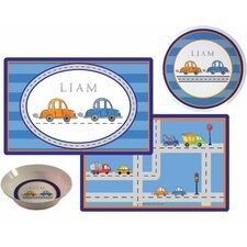 The Kids Tabletop Vroom Vroom Place Setting (Set of 3)