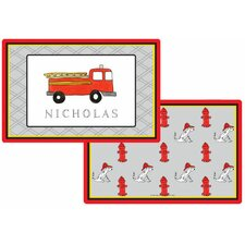 The Kids Tabletop Firetruck Placemat