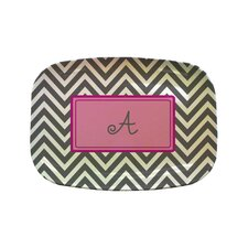 "Everyday Tabletop 14"" Chevron Rectangular Platter"