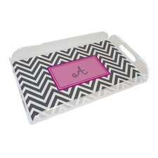 Everyday Tabletop Grey Chevron Serving Tray