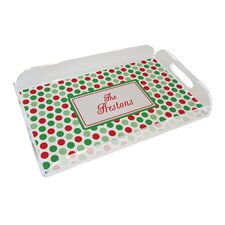 Everyday Tabletop Christmas Dots Serving Tray