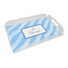 Everyday Tabletop Blue Vines Serving Tray
