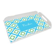 Everyday Tabletop Blue Geo Serving Tray