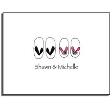 Stationery Collection Flip Flops Folded Notes