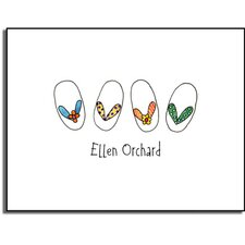 Stationery Collection Summer Flip Flops Folded Notes