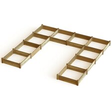 "Modular ""U"" Shape Raised Garden Bed"