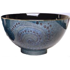 Organic Blue 96 oz. Coupe Salad Bowl (Set of 2)