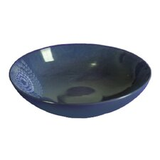 "<strong>Red Vanilla</strong> Organic Blue 13"" Serving Bowl"