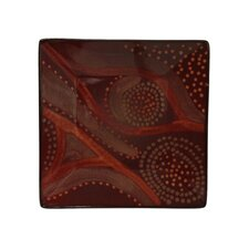 "<strong>Red Vanilla</strong> Organic Brown 8"" Square Salad Plate (Set of 4)"