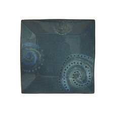 "<strong>Red Vanilla</strong> Organic Blue 8"" Square Salad Plate (Set of 4)"