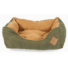 Tweed Dog Snuggle Bed