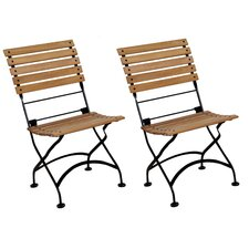 <strong>Furniture Designhouse</strong> European Grande Café Folding Side Chair (Set of 2)