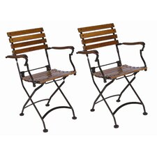 European Café Folding Armchair (Set of 2)