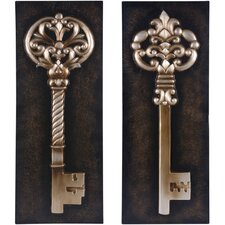 Key Metal Wall Decor (Set of 2)