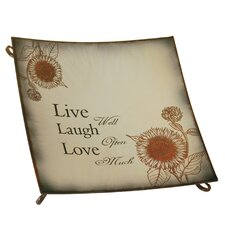 'Live.Love...' Square Metal Tray