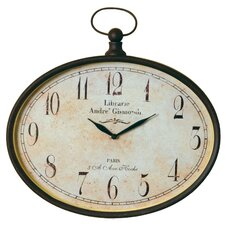 "<strong>Wilco</strong> 16.25"" Pocket Watch Wall Clock"